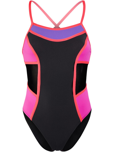 Funkita Colour Block One Piece Swimsuit Women Pink Shadow